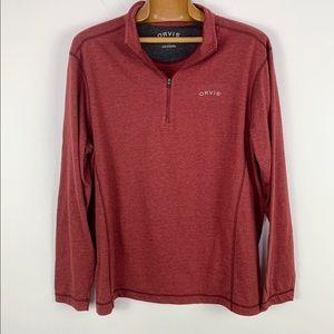 Orvis Men's Quarter zip pullover long sleeve shirt